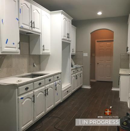 In progress kitchen remodel in north dal
