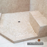 in progress master bathroom remodel - sh