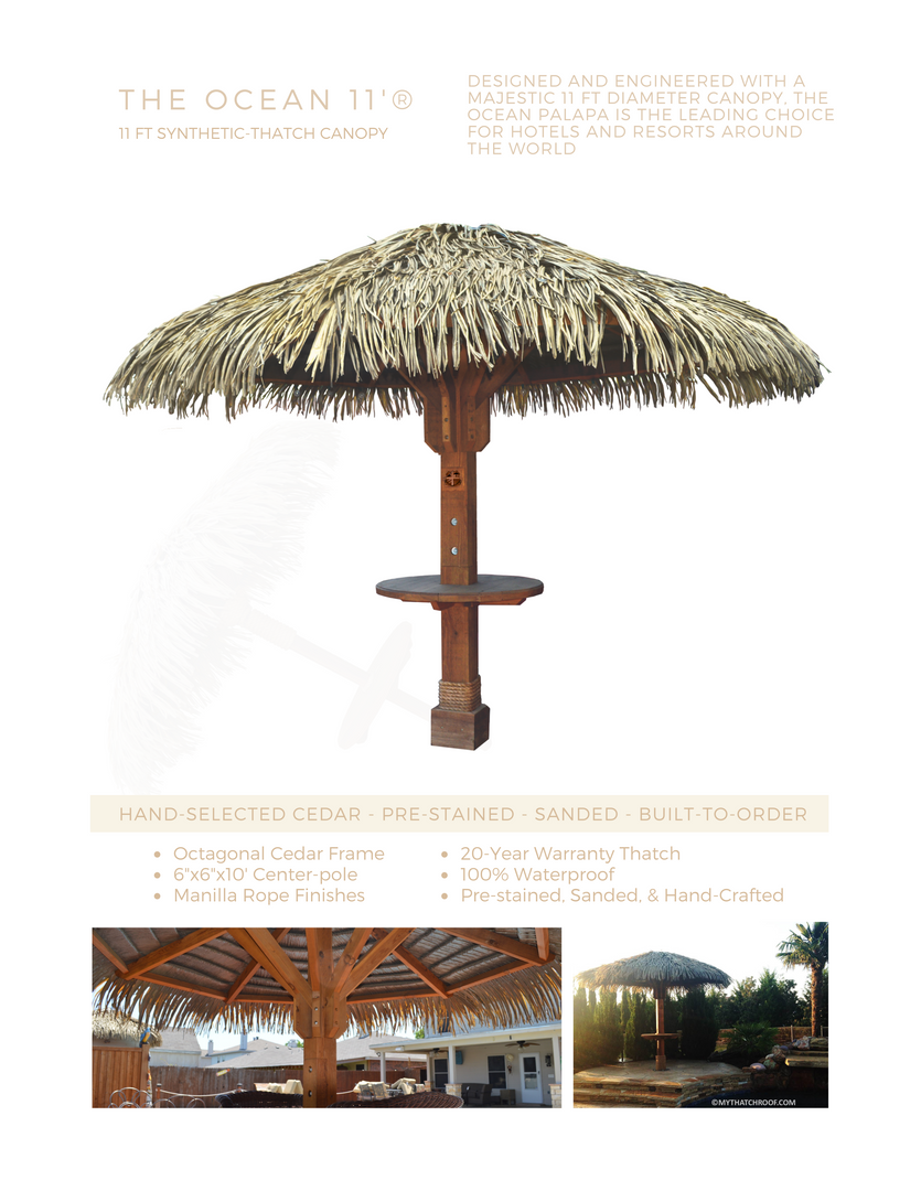 Ocean Synthetic Thatch Palapa