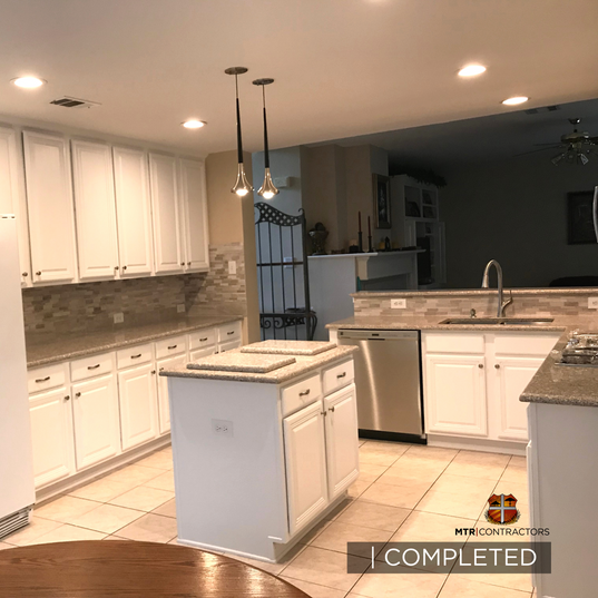 finished kitchen remodeling project in N