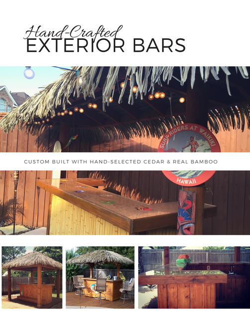 Exterior Tiki Bars by My Thatch Roof