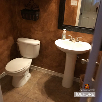 before and after half bath remodel in mc