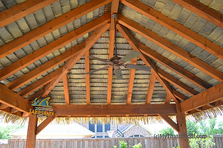 synthetic thatching look from underneath