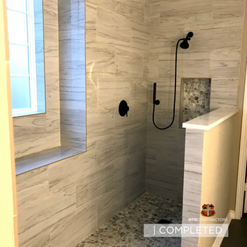 Beautiful bathroom remodeling project by