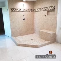 In progress custom shower by MTR in Fris
