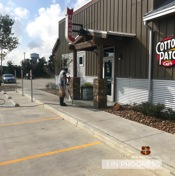 Routine pressure washing for commercial