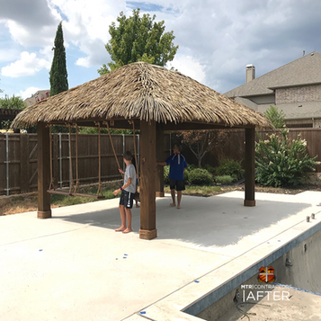 Synthetic thatch cabana in allen texas b