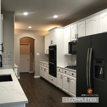 Full kitchen remodeling project in North