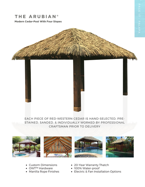 The Arubian Synthetic Thatch Cabana