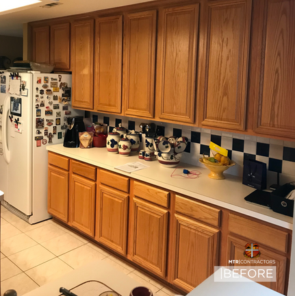 Before and after of north dallas kitchen