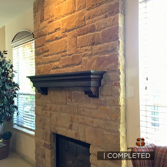 beautiful stone fire-place remodeling pr
