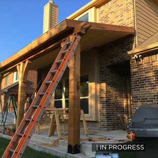 Building a pregola:roof addition in Fris