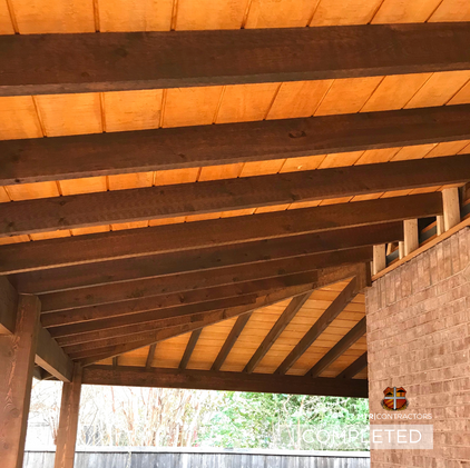custom tongue and groove roof addition r