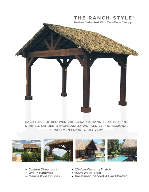 The Ranch Style Synthetic Thatch Cabana