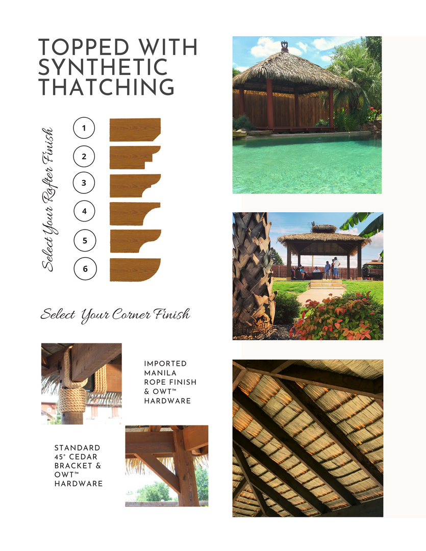 My Thatch Roof Cabana Features