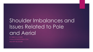 Presentation From Pole Expo on Shoulder Imbalances
