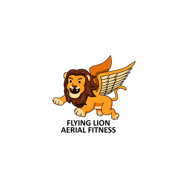 Flying Lion Aerial Fitness Logo
