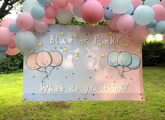 Personalised Gender Reveal Baby Banner