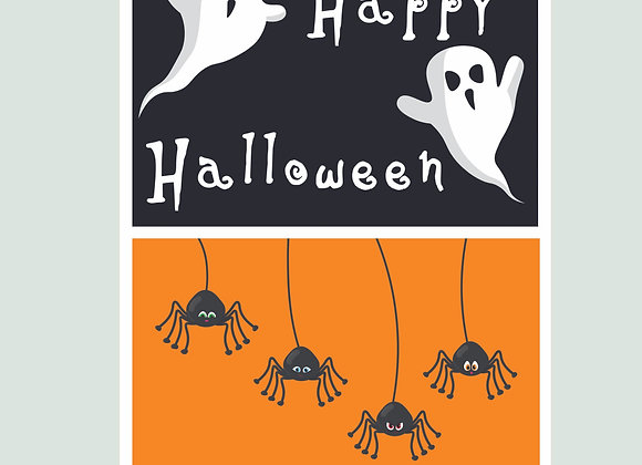 Happy Halloween Poster Style Stickers