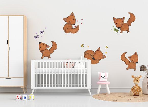Baby Foxes Sticker Sheet