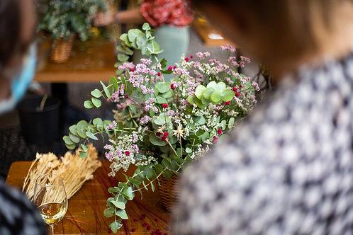 Taller de cesto de flores
