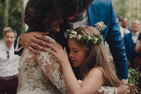 Diadema de flores naturales para niña