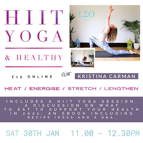 HIIT Yoga & Healthy Workshop Kristina Wo