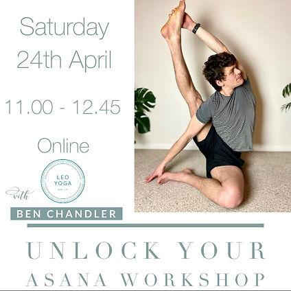 April - Unlock your asana Workshop Ben C