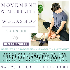 Movement & Mobility Workshop Ben Chandle