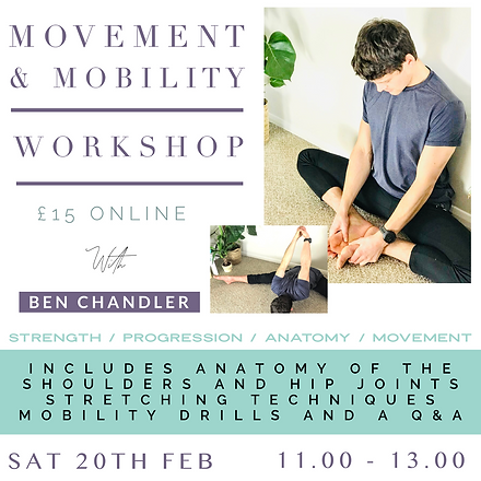 Movement & Mobility Workshop Ben Chandle