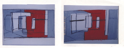 Studies for Opening Up, Shutting Out, 1998