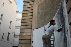 Frottage in progress, 2007