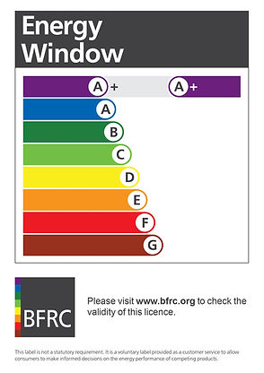 Double glazing endorsed by the industry energy specialists BFRC