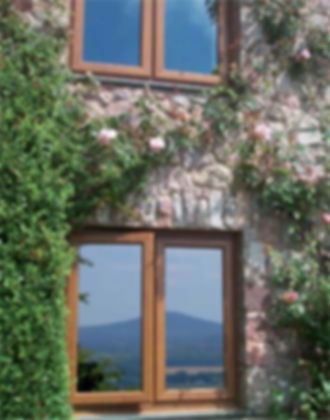 brown finished upvc windows to match your period property