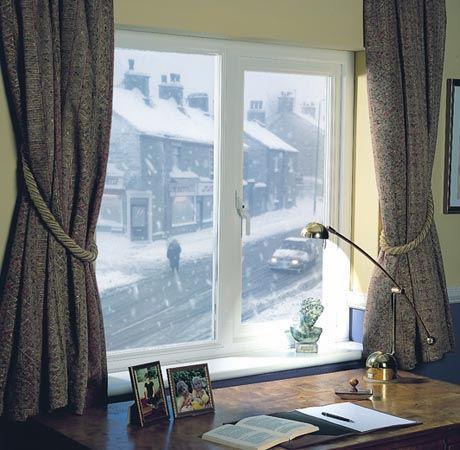 Double glazed casement window - UPVC window - white window handle