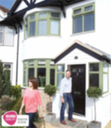 Green Coloured Double glazed  casment windows - high energy rating - sittingbourne, kent, south east, england