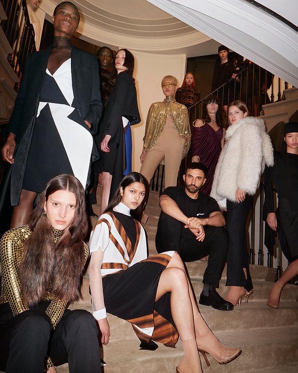 Riccardo Tisci and models at the Burberr