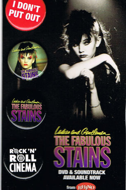 Ladies and Gentlemen The Fabulous Stains pins