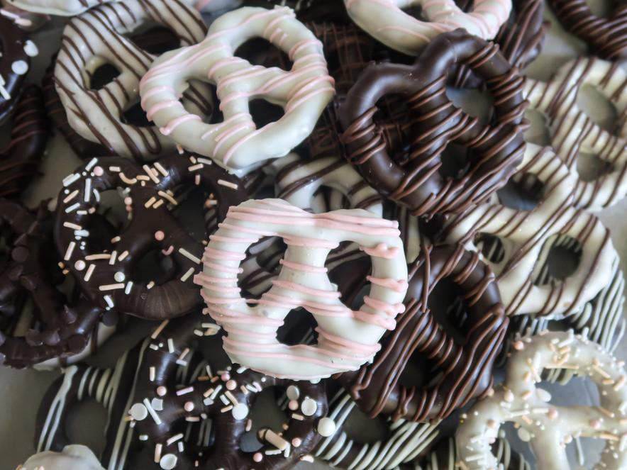 chocolate covered pretzles