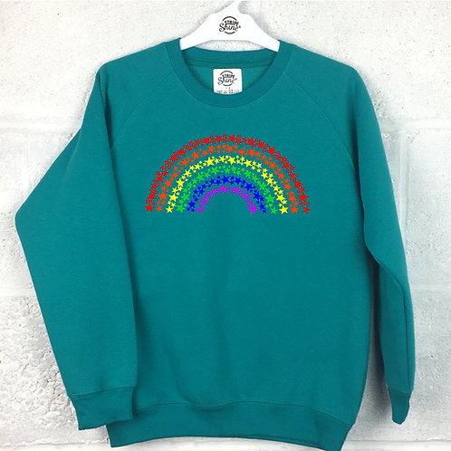 Rainbow of stars junior sweatshirt