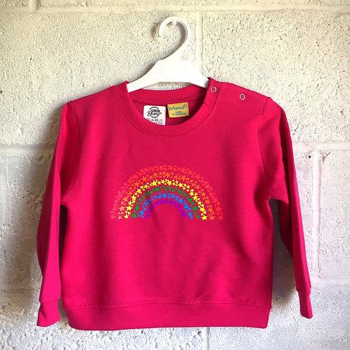 Rainbow of stars toddler sweatshirt