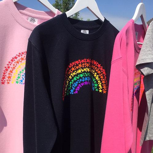 Rainbow of stars sweatshirt
