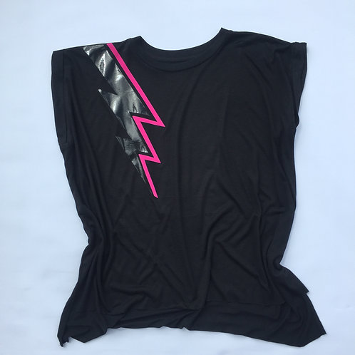 'Spark' rolled sleeve tshirt