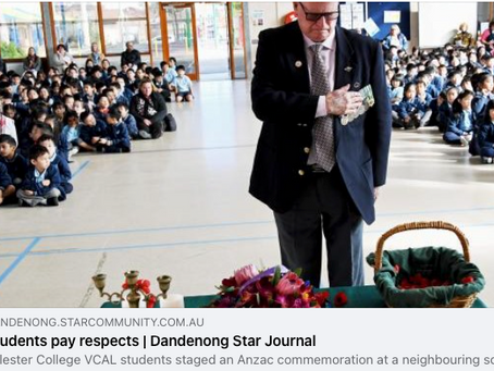 Students Pay respects. Dandenong Star Journal