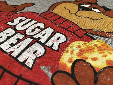 custom sugar bear screen print