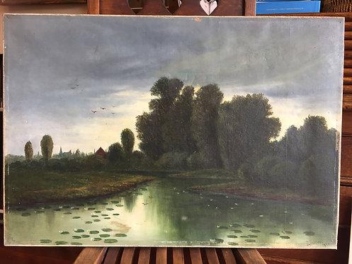 Original James Ashton oil painting c1884 Adelaide