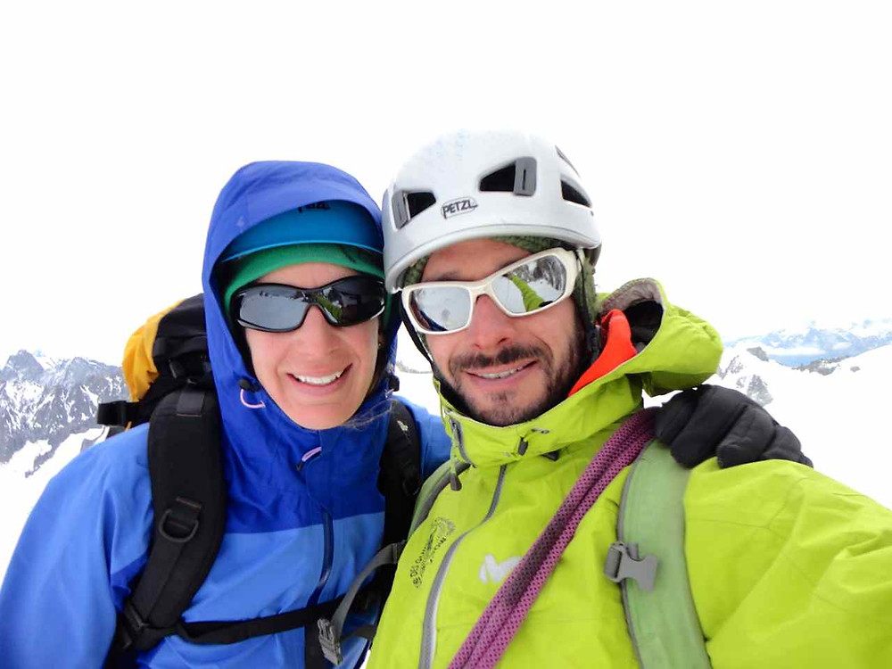 My guide and me at top Pointes Lachenal