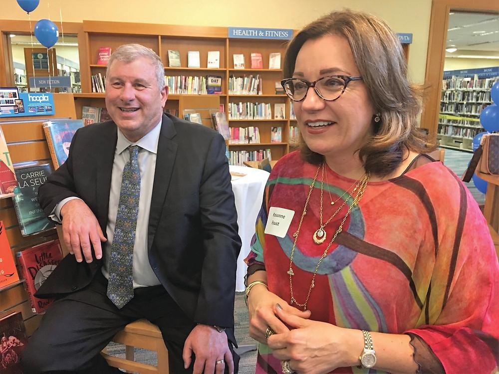ormer Redwood City Mayors Jim Hartnett and Rosanne Foust