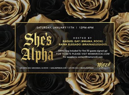 SHE'S ALPHA