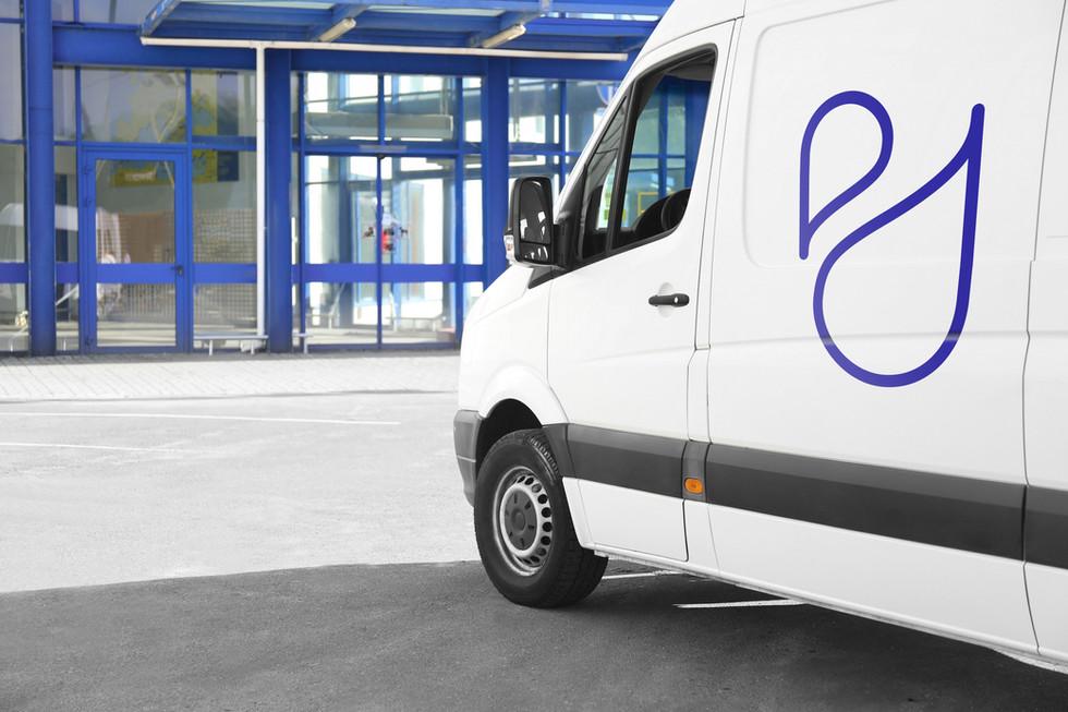 Branded cleaning van